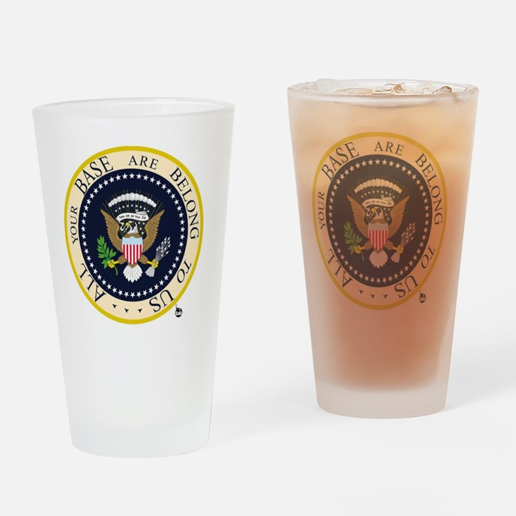 All Your Base Drinking Glass