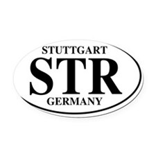 STRStuttgart Oval Car Magnet