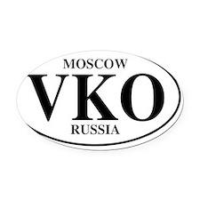 VKOMoscow Oval Car Magnet