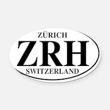 ZRHZurich Oval Car Magnet