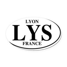 LYSLyon Oval Car Magnet