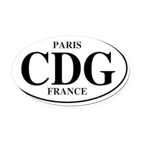 CDGParis Oval Car Magnet