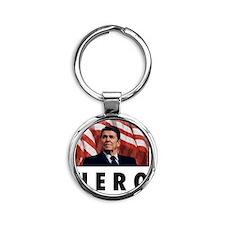 reaganhero Round Keychain