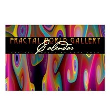 fractal calendar cover Postcards (Package of 8)