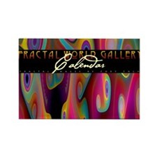 fractal calendar cover Rectangle Magnet