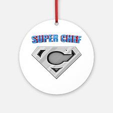 3-Super_chef Round Ornament