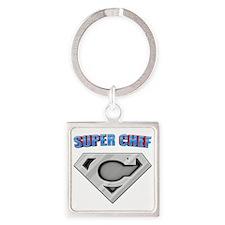 3-Super_chef Square Keychain