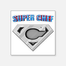 """3-Super_chef Square Sticker 3"""" x 3"""""""