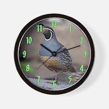 quaillargewallclock Wall Clock