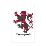 Lion - Crawford Sticker (Rectangle 50 pk)