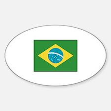 Brazil Flag Oval Decal