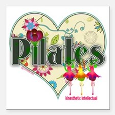 "pilates kinesthetic inte Square Car Magnet 3"" x 3"""