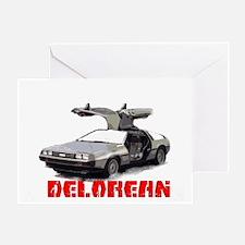 3-Delorean Greeting Card