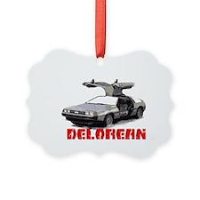 3-Delorean Ornament