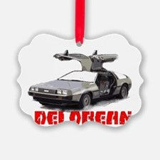 3-Delorean Ornament