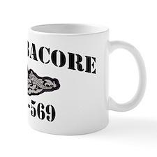 albacore black letters Mug