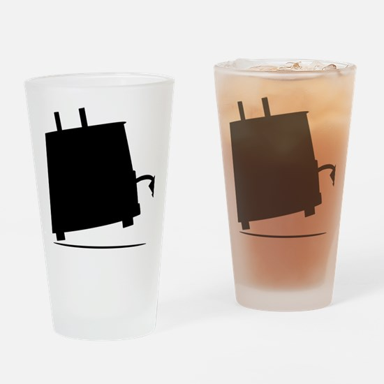 ToasterSilhouette Drinking Glass