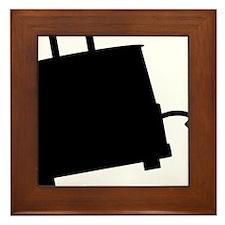 ToasterSilhouette Framed Tile