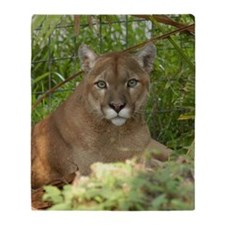 Cougar 016 Throw Blanket