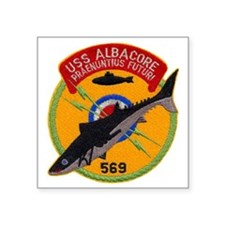 "albacore patch transparent Square Sticker 3"" x 3"""