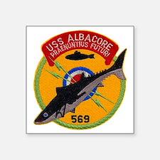 "albacore patch transparent Square Sticker 3"" x 3"""
