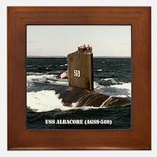 albacore small poster Framed Tile