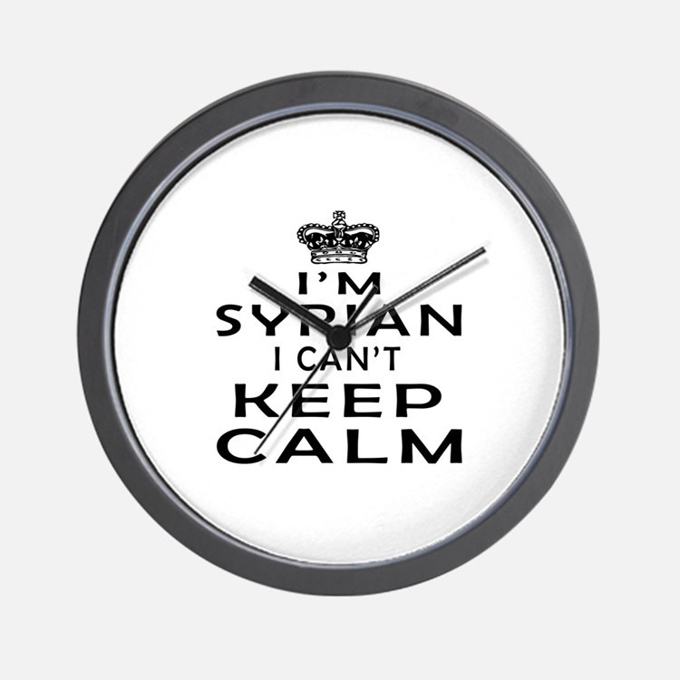 I Am Syrian I Can Not Keep Calm Wall Clock