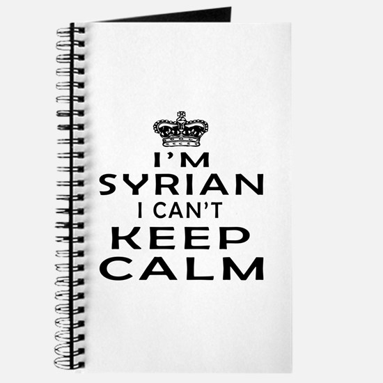 I Am Syrian I Can Not Keep Calm Journal