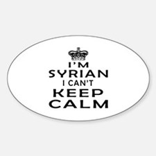 I Am Syrian I Can Not Keep Calm Decal