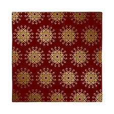 Red & Gold Pattern Queen Duvet