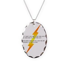 flash gordon Necklace Oval Charm