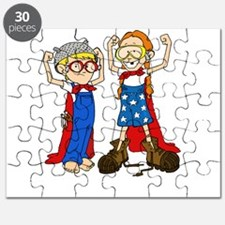 Superhero (Boy and Girl) Puzzle