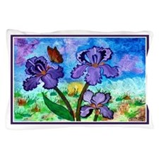 Iris At Sunrise Pillow Case