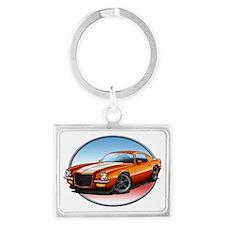 Orange_72_Camaro Landscape Keychain