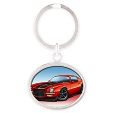 Red_72_Camaro Oval Keychain