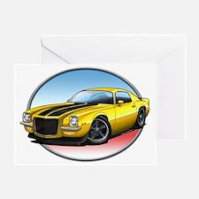 Yellow_72_Camaro Greeting Card