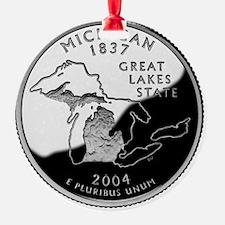 state-quarter-michigan Ornament