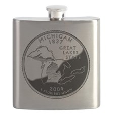 state-quarter-michigan Flask