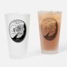 state-quarter-indiana Drinking Glass