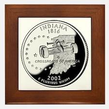 state-quarter-indiana Framed Tile