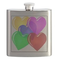 Hearts-4 Flask