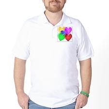 Hearts-4 T-Shirt