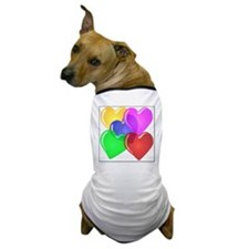 Hearts-4 Dog T-Shirt