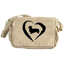 Pembroke Heart Messenger Bag