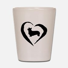 Pembroke Heart Shot Glass