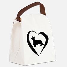 Cardigan Heart Canvas Lunch Bag