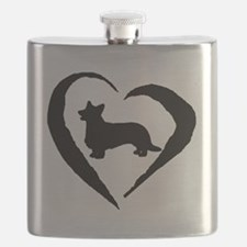 Cardigan Heart Flask