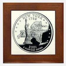 coin-quarter-new-york Framed Tile