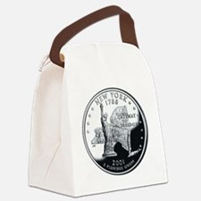 coin-quarter-new-york Canvas Lunch Bag