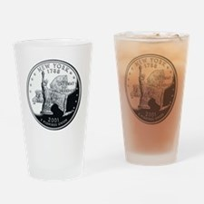 coin-quarter-new-york Drinking Glass
